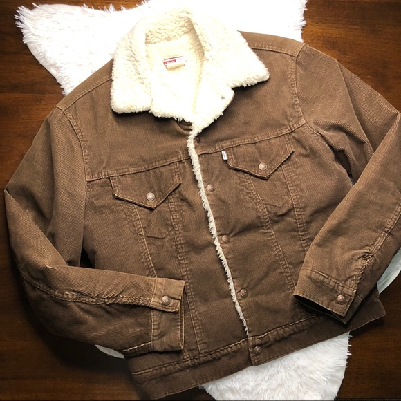 d02f77c015b Levi s Other - Vintage Levi s Brown Corduroy Sherpa Lined Jacket
